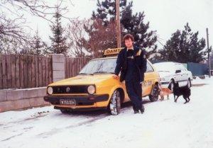 1995 mit dem VW Golf vom ÖAMTC in Seyring