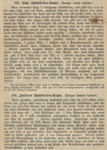 Wiener Kochbuch, Schildkroetensuppe