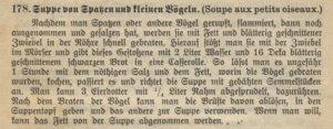 Wiener Kochbuch, Spatzensuppe
